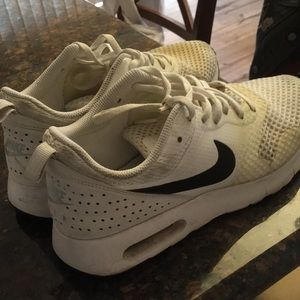 White butter air max, kids size 7
